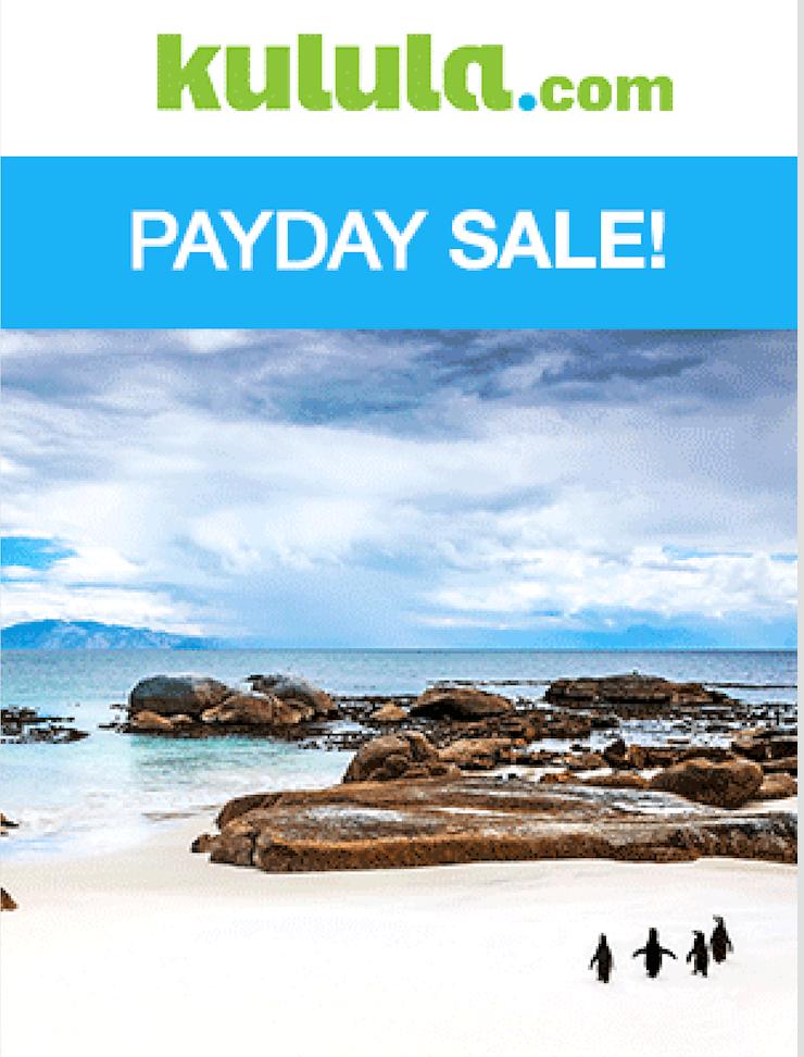Payday Sale – Kulula – R499