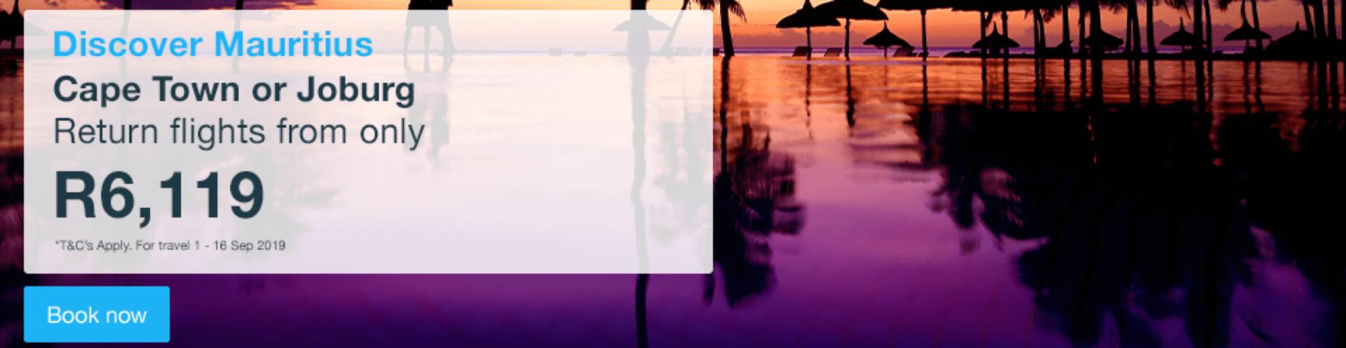 Cheap Flights to Mauritius