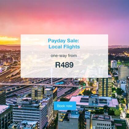 Payday Sale – FlySafair – R489
