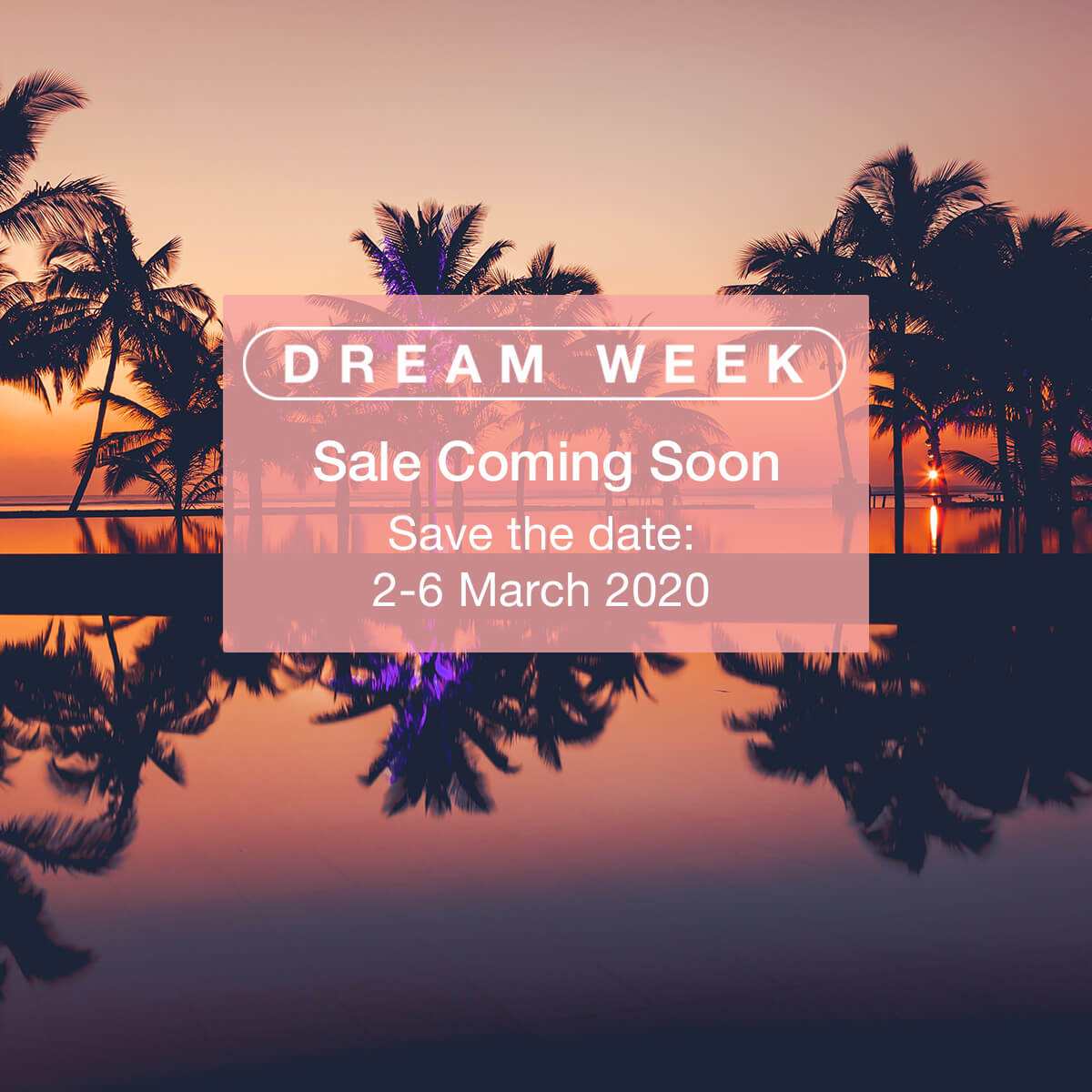 Dream Week – Monday 2 March