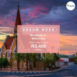 Fly to Namibia for R3409