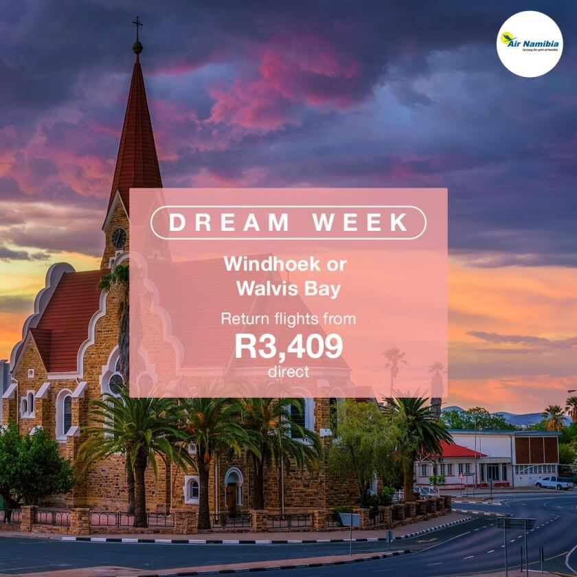 Dream Week – Fly to Namibia