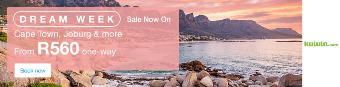 Dream Week - Sale On - Flights from R560