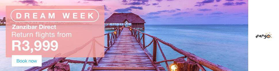 Zanzibar Direct Flights - R3.999 Return